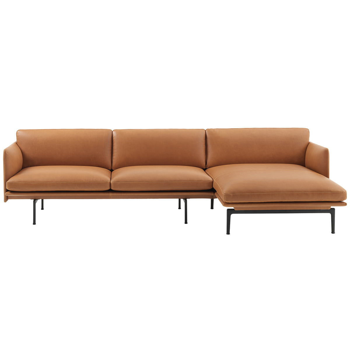Chaise lounge sofa leder  Sofaecke Outline von Muuto | Connox