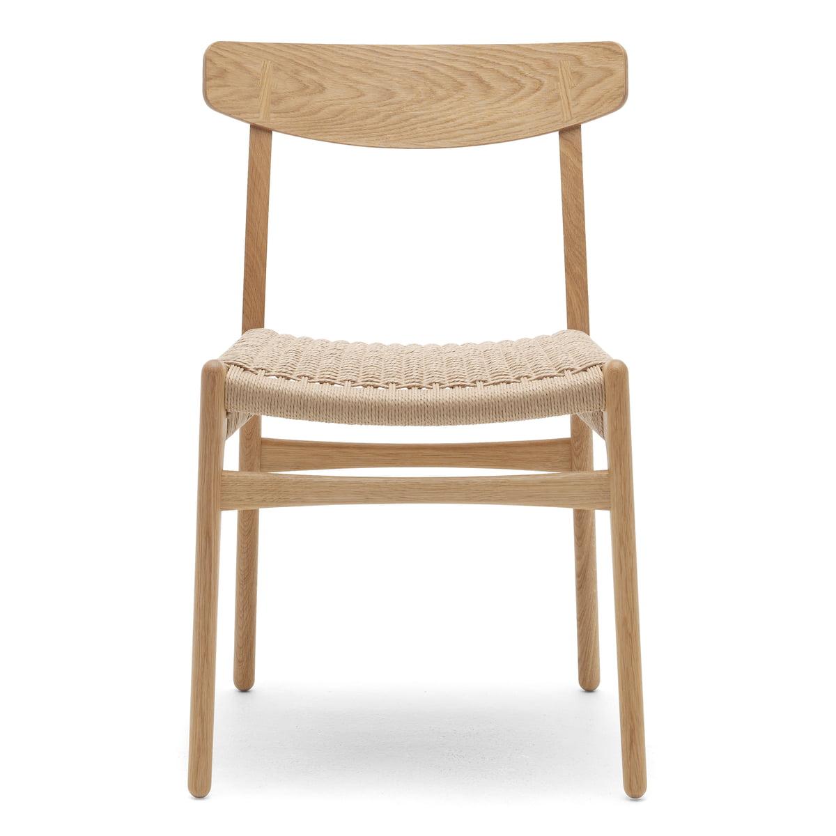 Carl Hansen CH23 Chair Stuhl, Eiche geölt Naturgeflecht