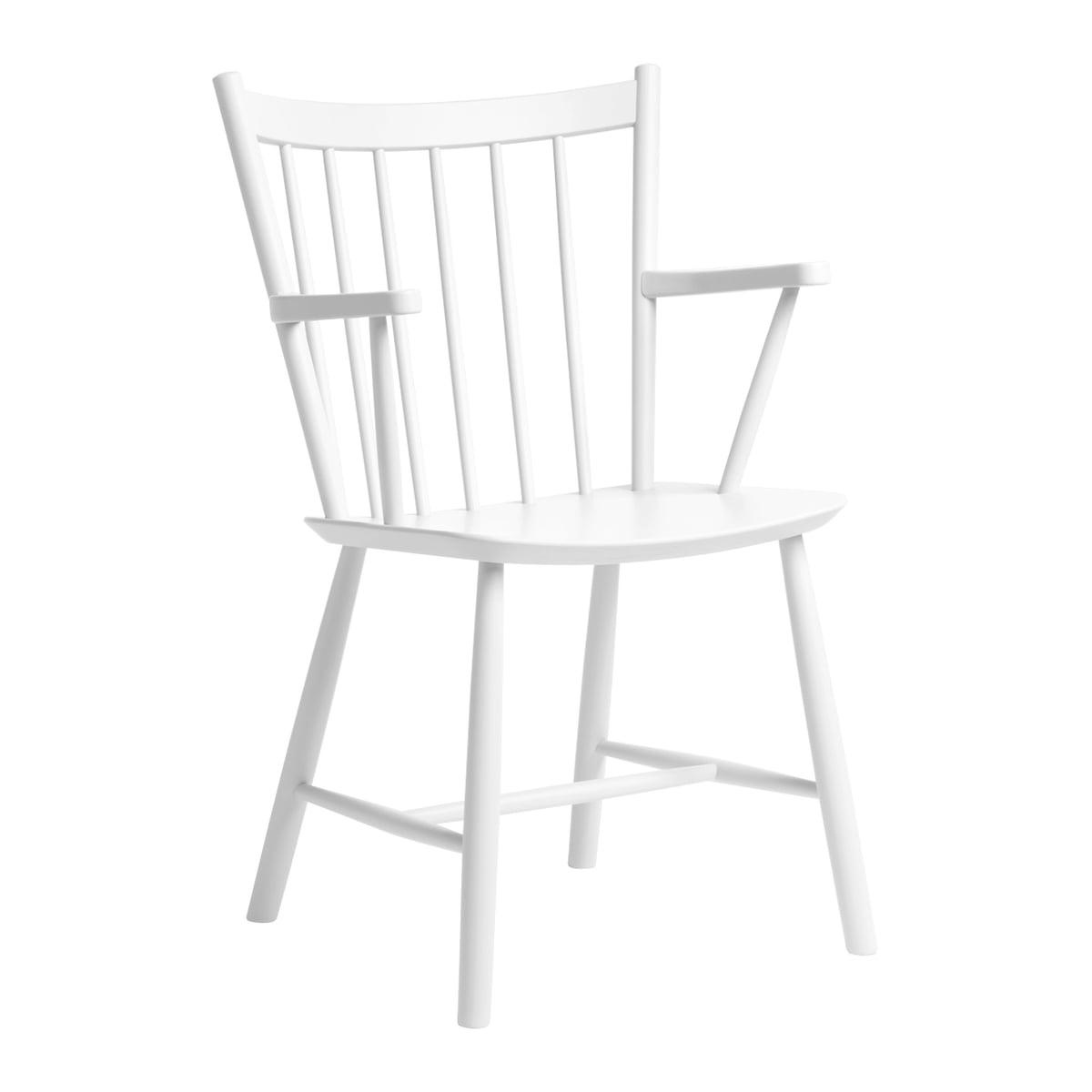 J41 Stuhl Buche Weiß lackiert Hay