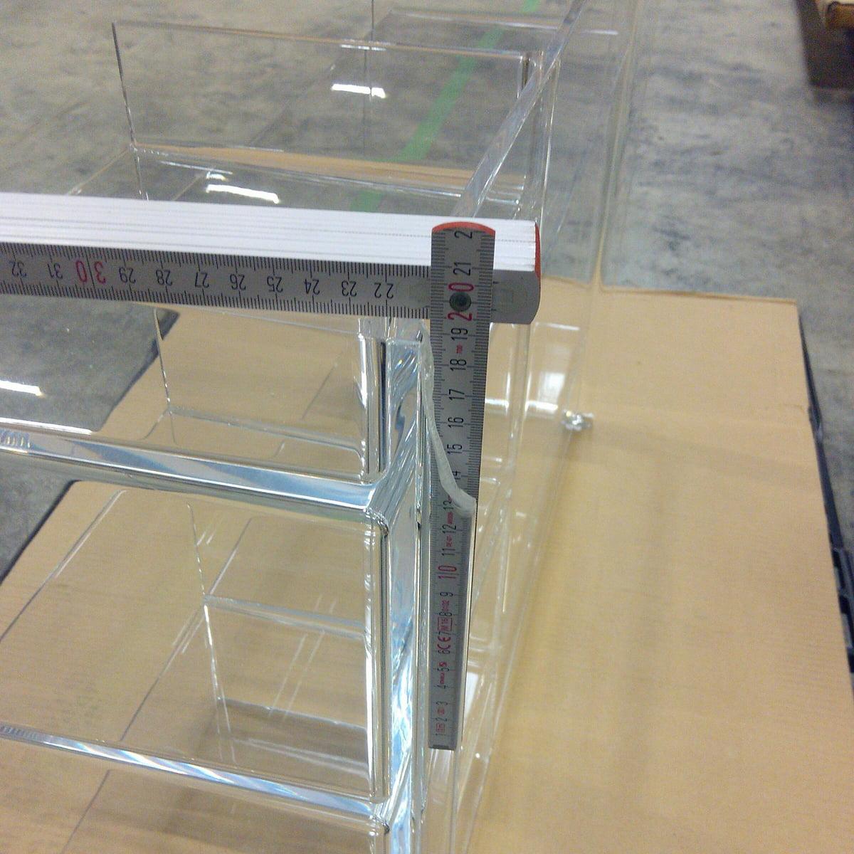 Design Sale - Kartell - Sound-Rack Regal, glasklar