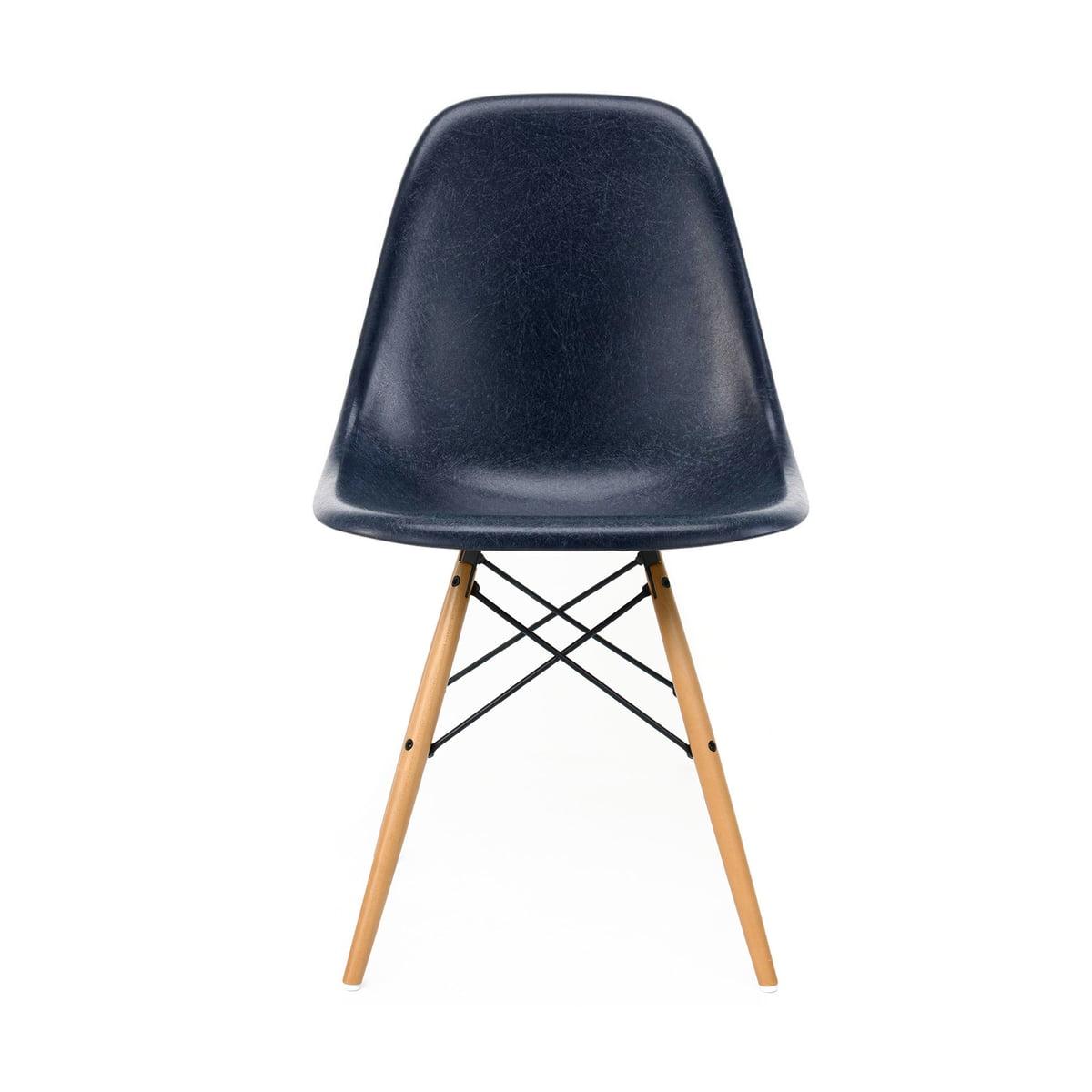 Vitra Eames Fiberglass Side Chair DSW, Ahorn gelblich Eames parchment (Filzgleiter weiß)