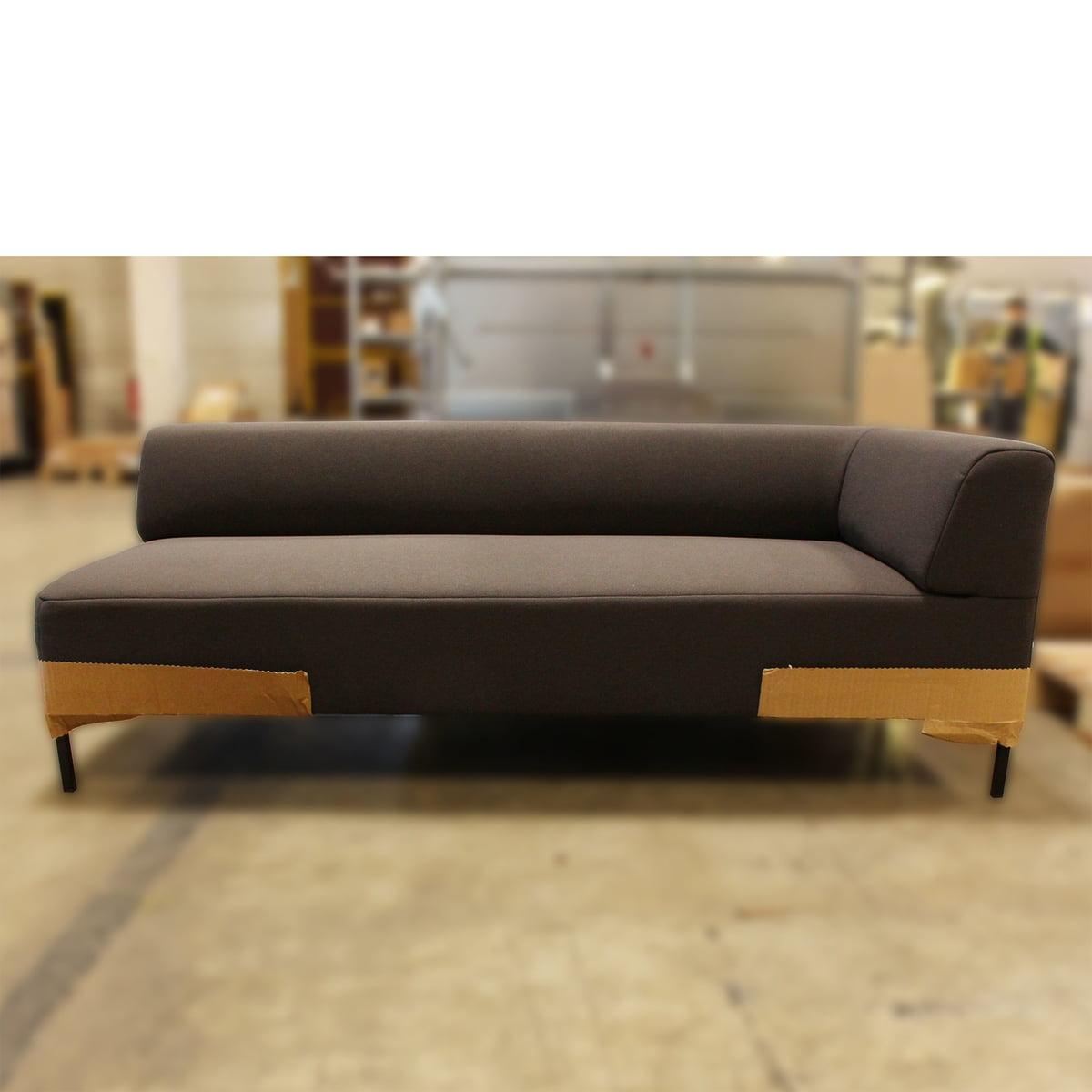 Design Sale - Freistil - 185 Sofa, Winkelfuß schwarz / Bezug anthrazit (3009) - 180 cm