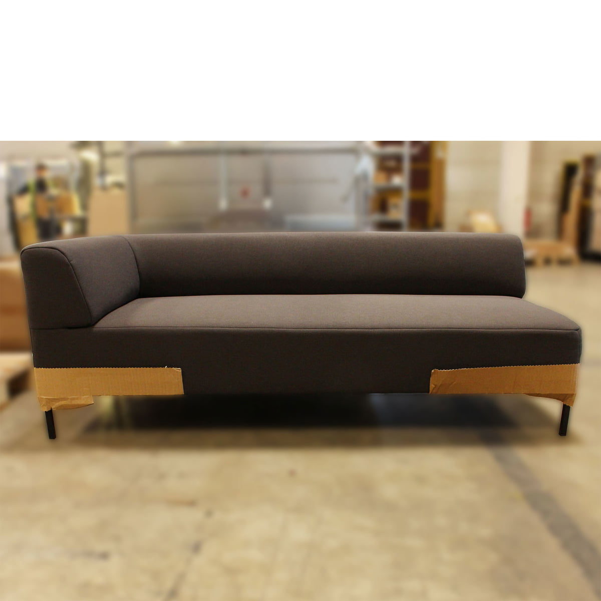 Design Sale - Freistil - 185 Sofa, Winkelfuß schwarz / Bezug anthrazit (3009) - 160 cm