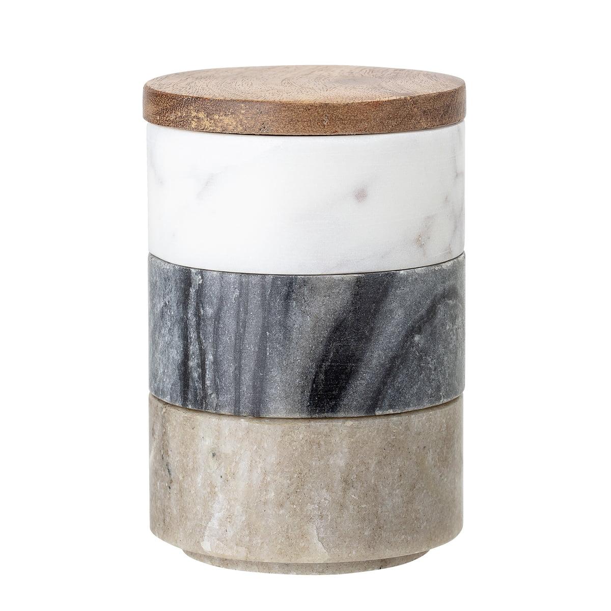 Bloomingville   Marmor Aufbewahrungsdosen 20 tlg., multi color