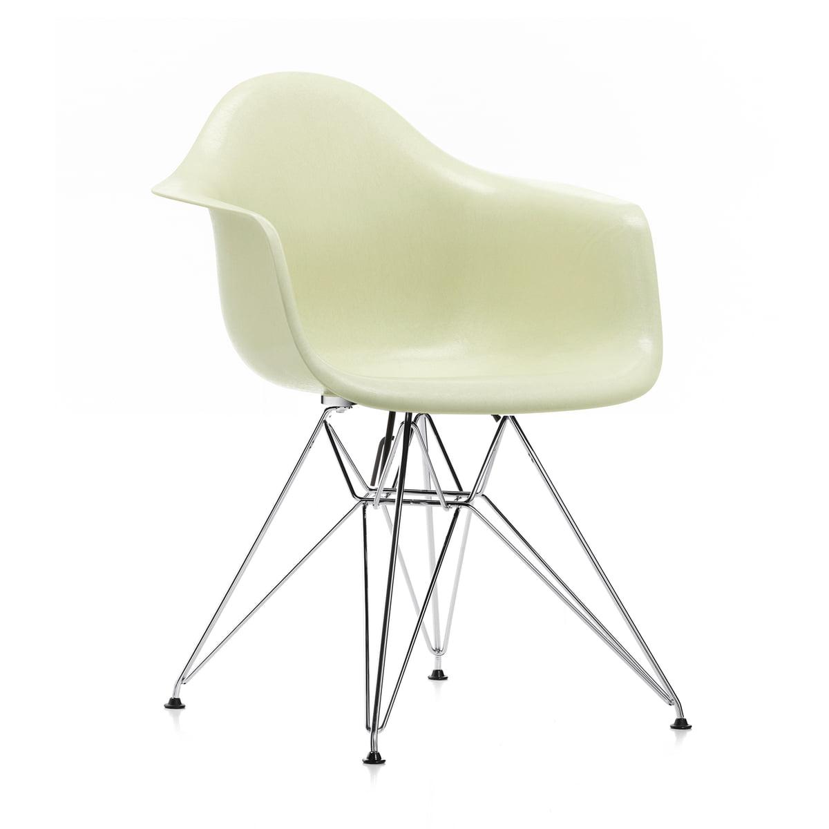 Vitra - Eames Fiberglass Armchair DAW, Ahorn gelblich / Eames sea foam green (Filzgleiter weiß)