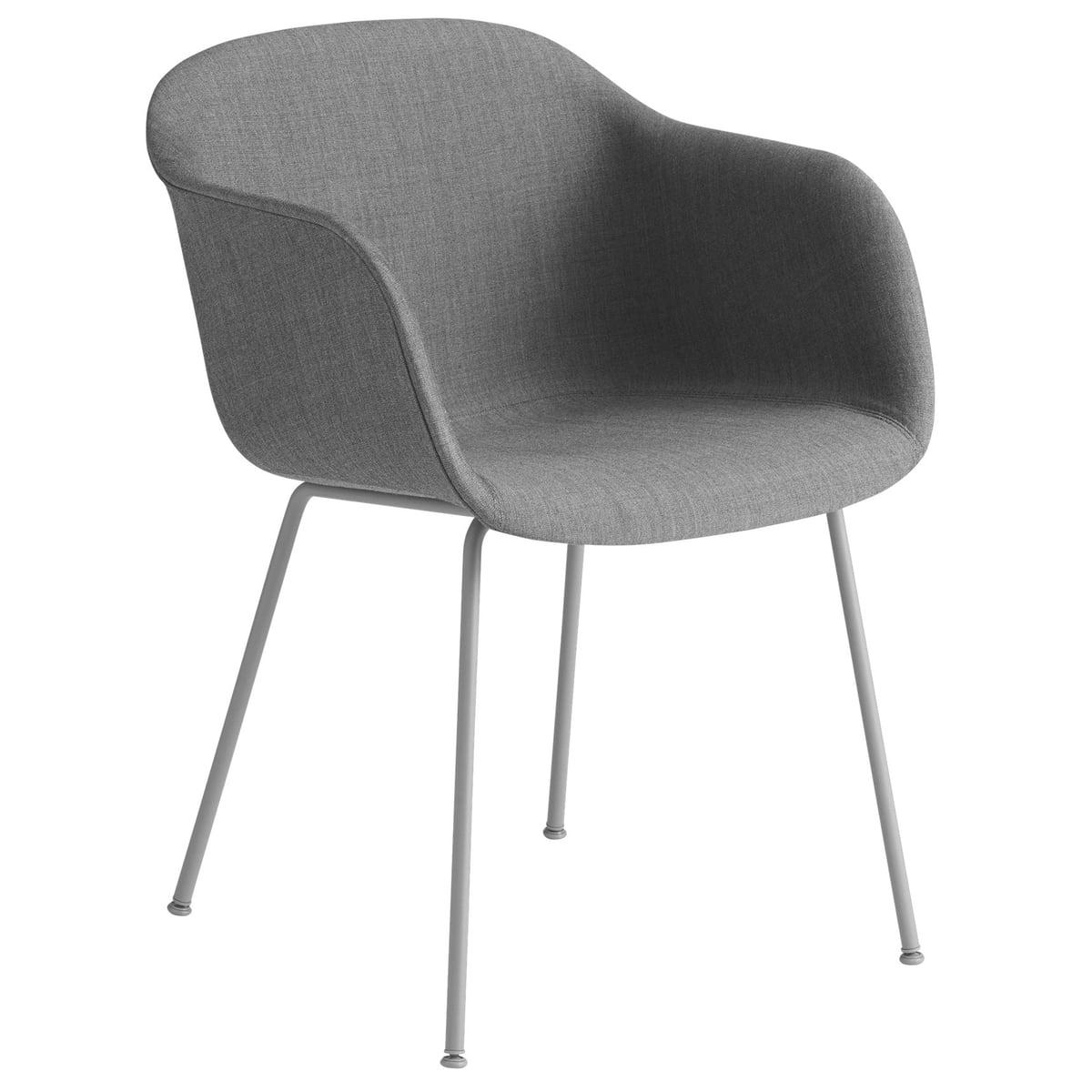 Muuto Fiber Chair Tube Base, grau Remix 133