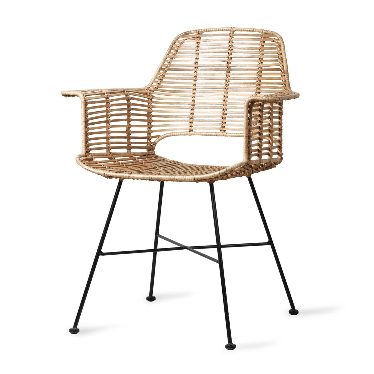 HKliving Rattan Tub Chair, natur