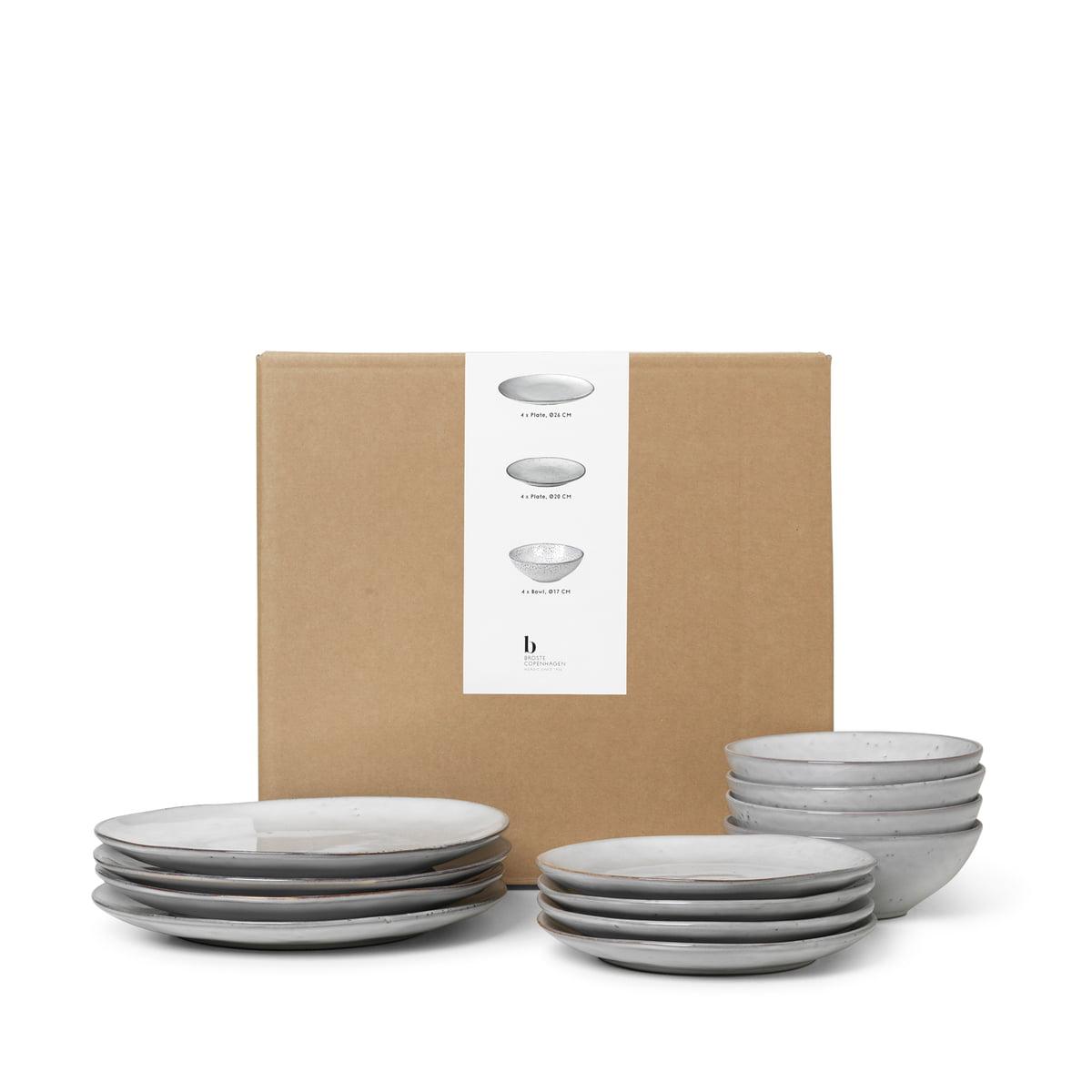 Broste Copenhagen   Nordic Sand Geschirr Dinner Set