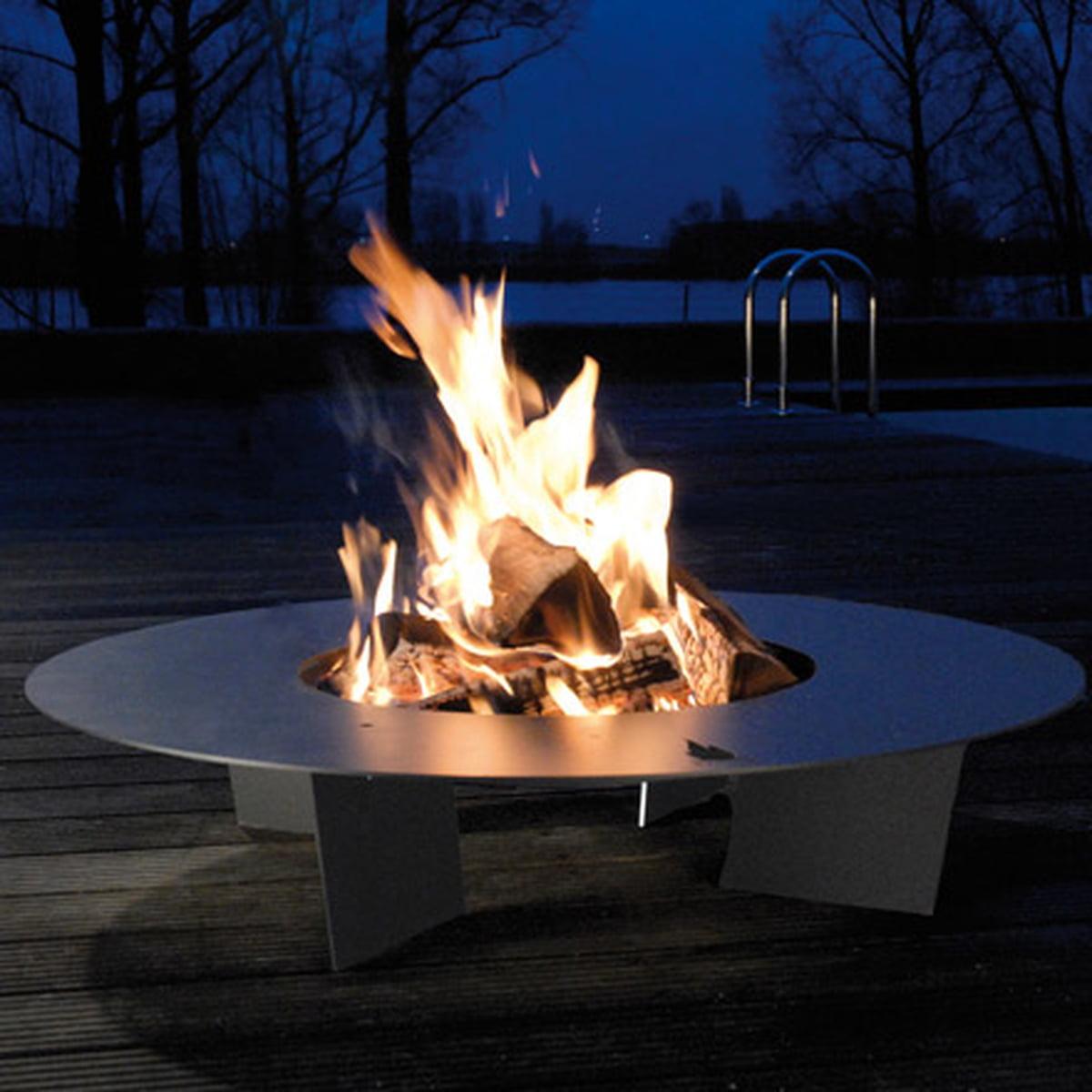 Design Feuerstelle fireplate radius design shop
