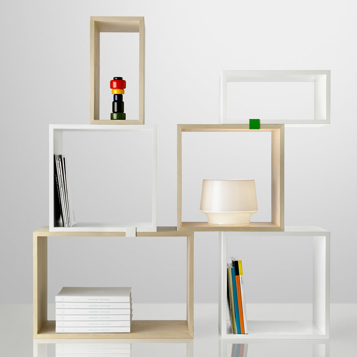 Muuto   Stacked Regalsystem In Kiefer Und Weiß