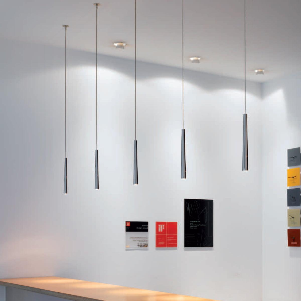 Flute Metall Pendelleuchte LED von Steng Licht