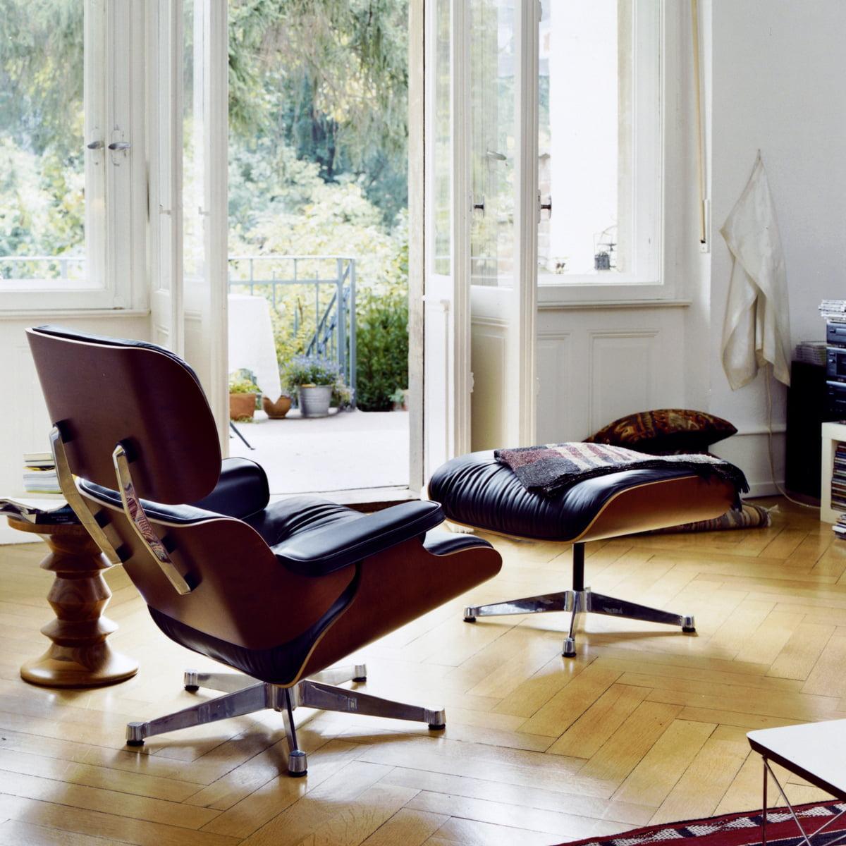 vitra lounge chair ottoman kirschbaum - Eames Lounge Stuhl Abmessungen