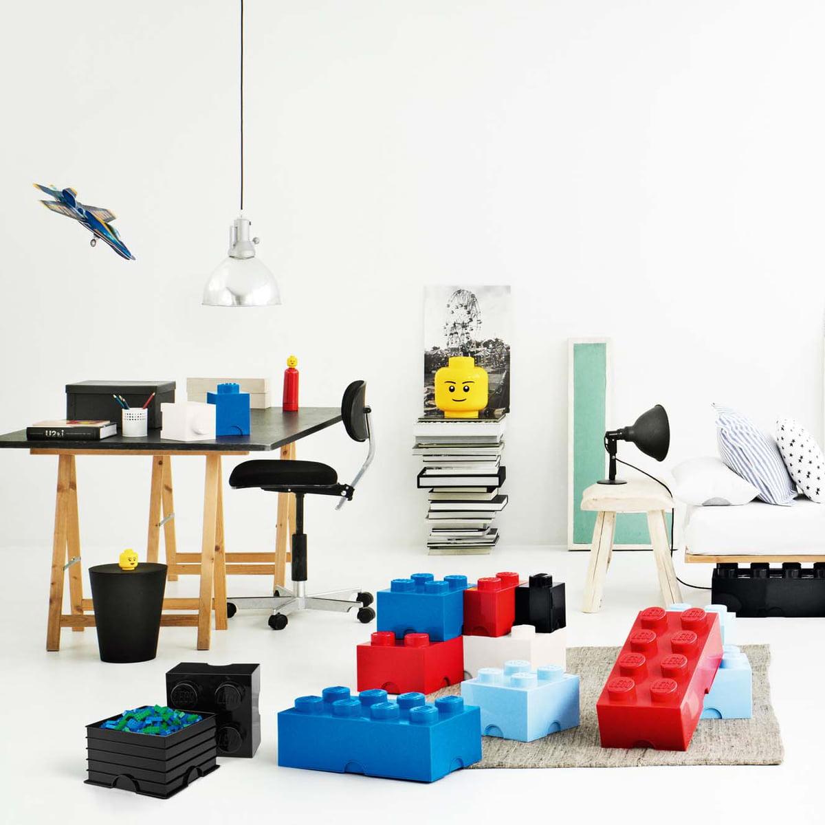 Lego   Storage Box, Blau, Rot, Head L