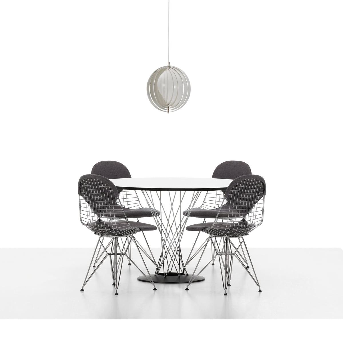 Vitra   Wire Chair DKR, Verchromt   Mit Sitz  Und Rückenpolster