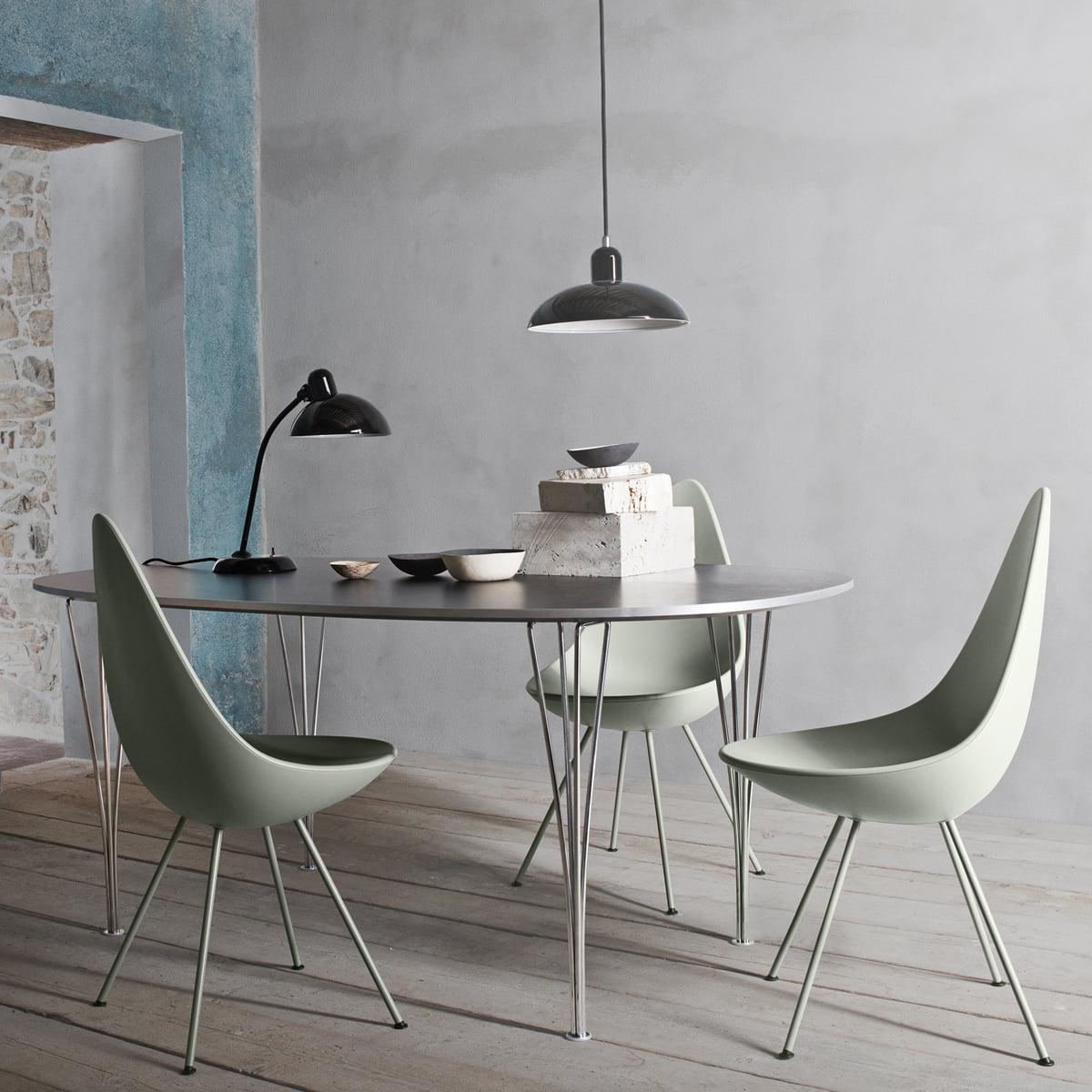 drop stuhl von fritz hansen im design shop. Black Bedroom Furniture Sets. Home Design Ideas