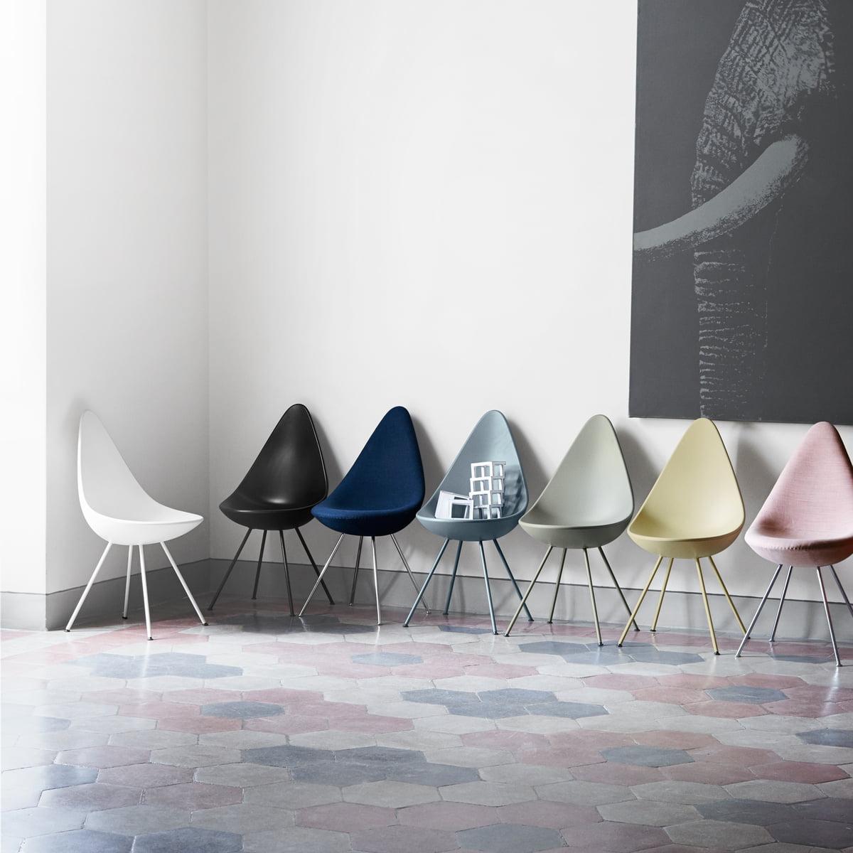 Drop stuhl von fritz hansen im design shop for Fritz hansen nachbau