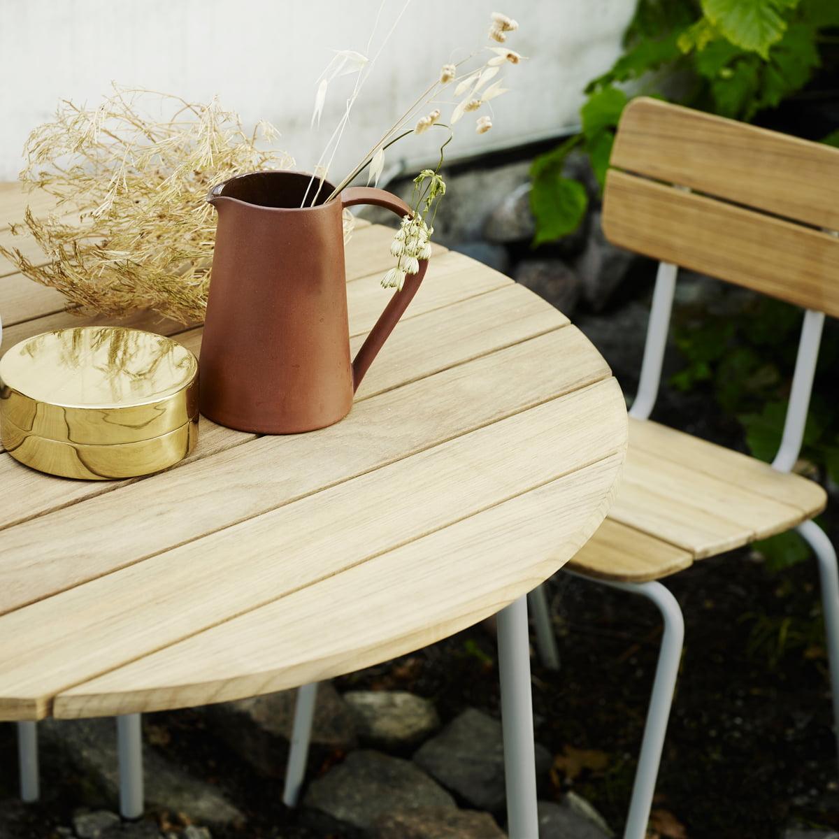 flux tisch von skagerak im wohndesign shop. Black Bedroom Furniture Sets. Home Design Ideas