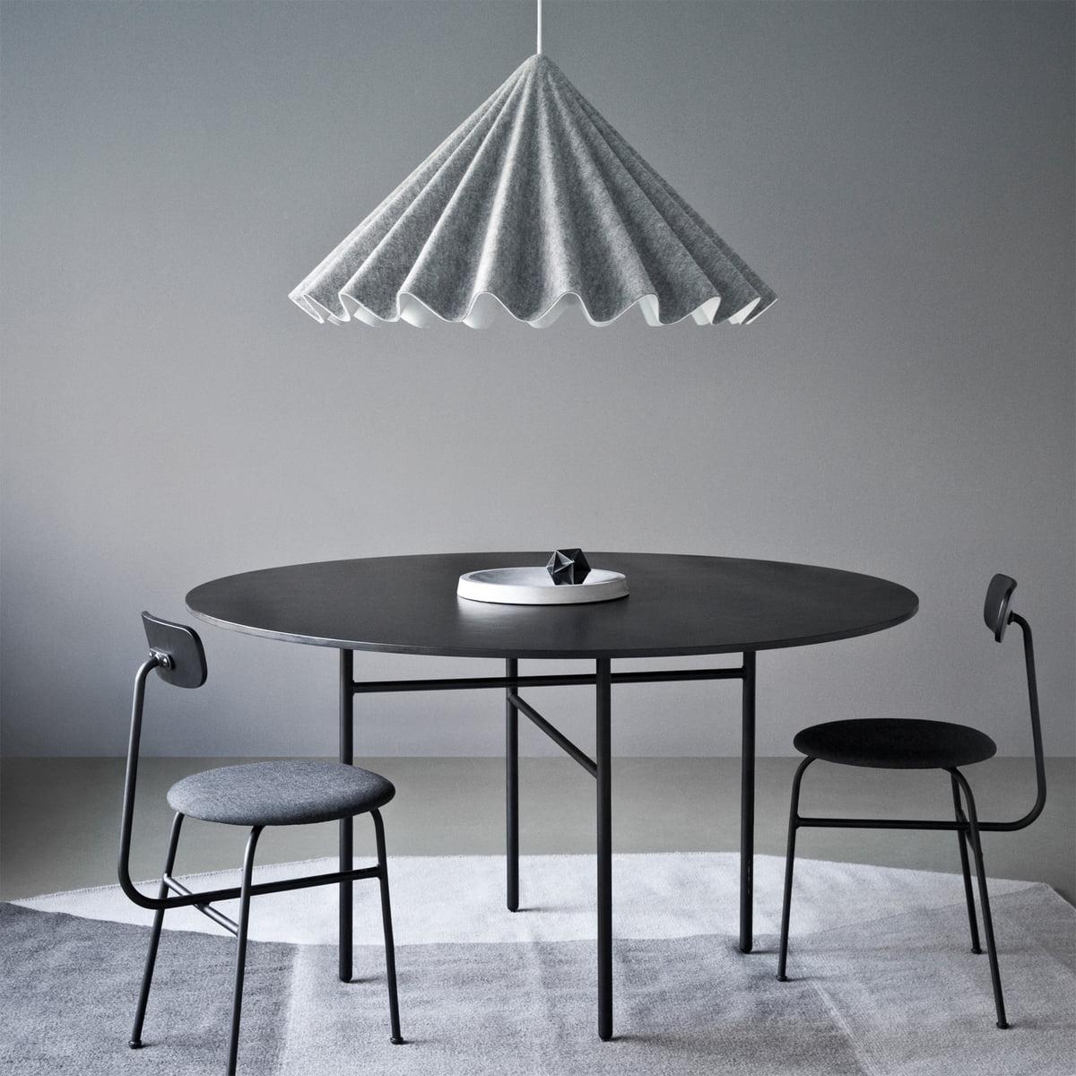 Tisch designklassiker rund  Menu - Snaregade Tisch, Ø 120 cm, Eichenfurnier schwarz gebeizt