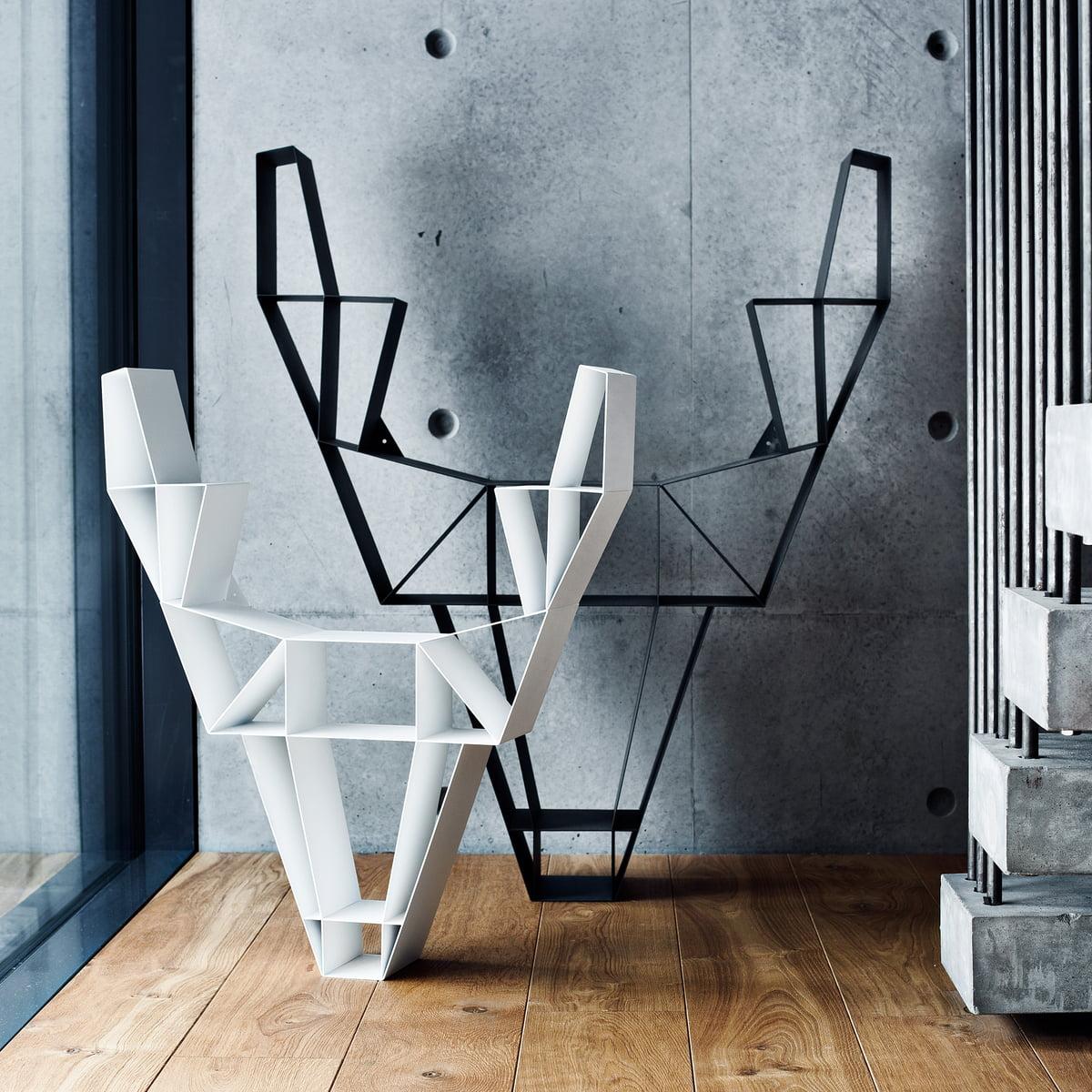 bedesign deer metall regal. Black Bedroom Furniture Sets. Home Design Ideas
