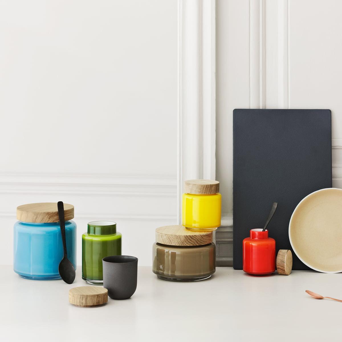aufbewahrungsglas von holmegaard im shop. Black Bedroom Furniture Sets. Home Design Ideas
