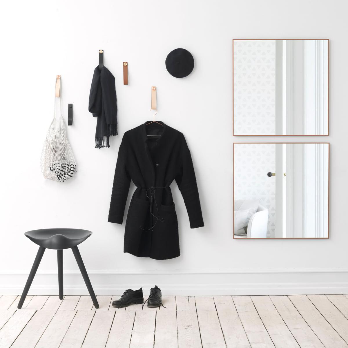 leder wandhaken von by lassen jetzt im shop. Black Bedroom Furniture Sets. Home Design Ideas