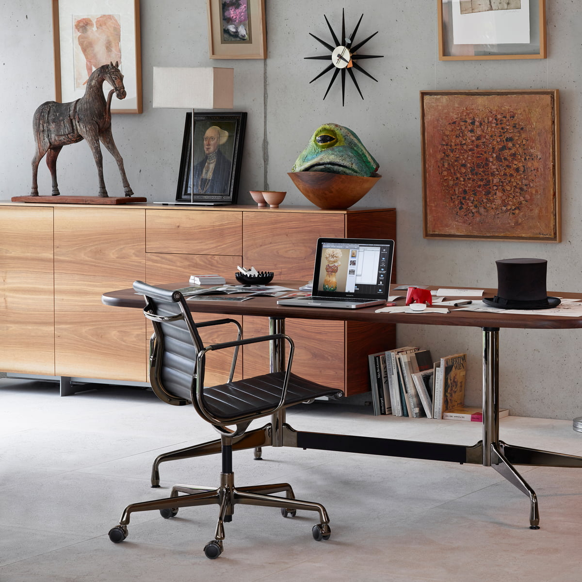 Bürostuhl designklassiker eames  Aluminium Group EA 117 Bürostuhl von Vitra | Connox