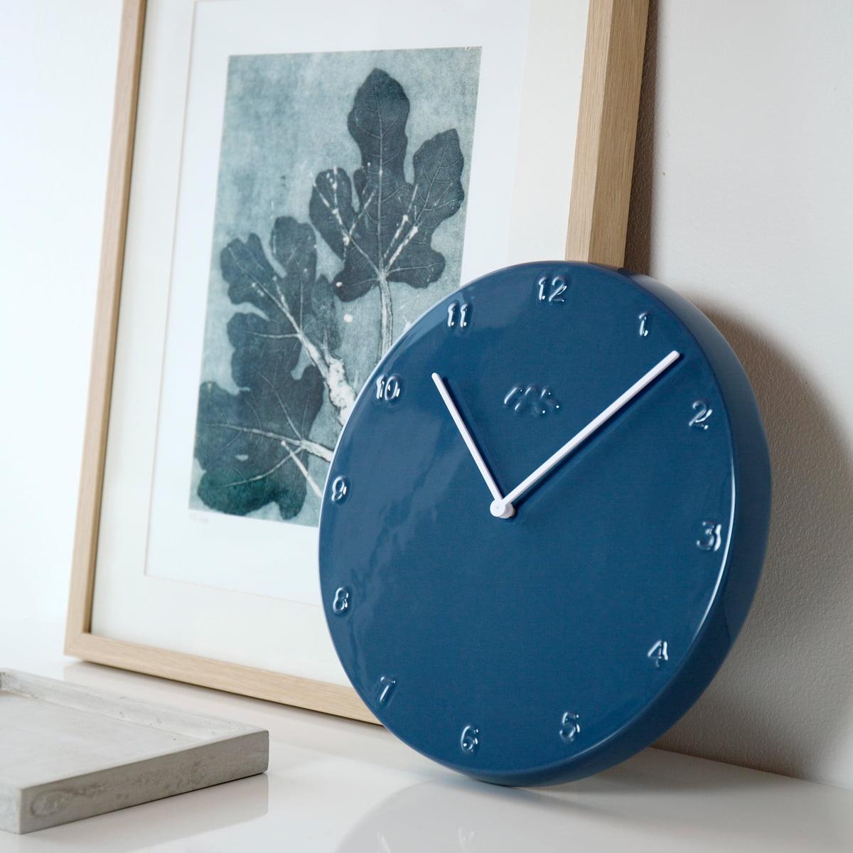 Ora wanduhr 30 cm von k hler design connox - Taubenblau wand ...