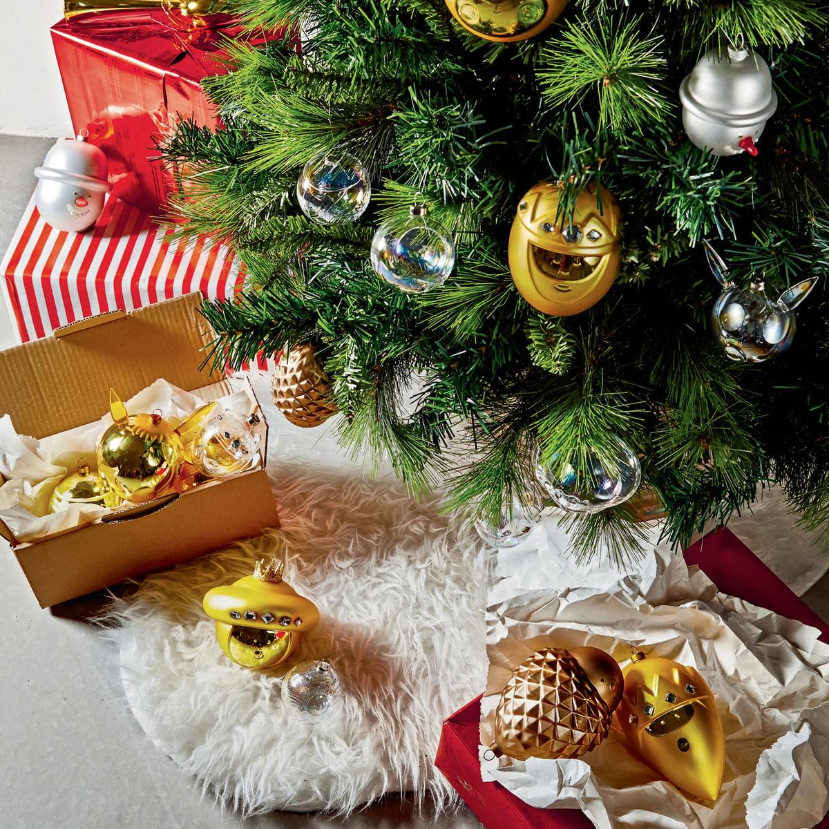 Geschichte Vom Weihnachtsbaum.A Di Alessi Weihnachtsbaumkugeln 10er Set Gold