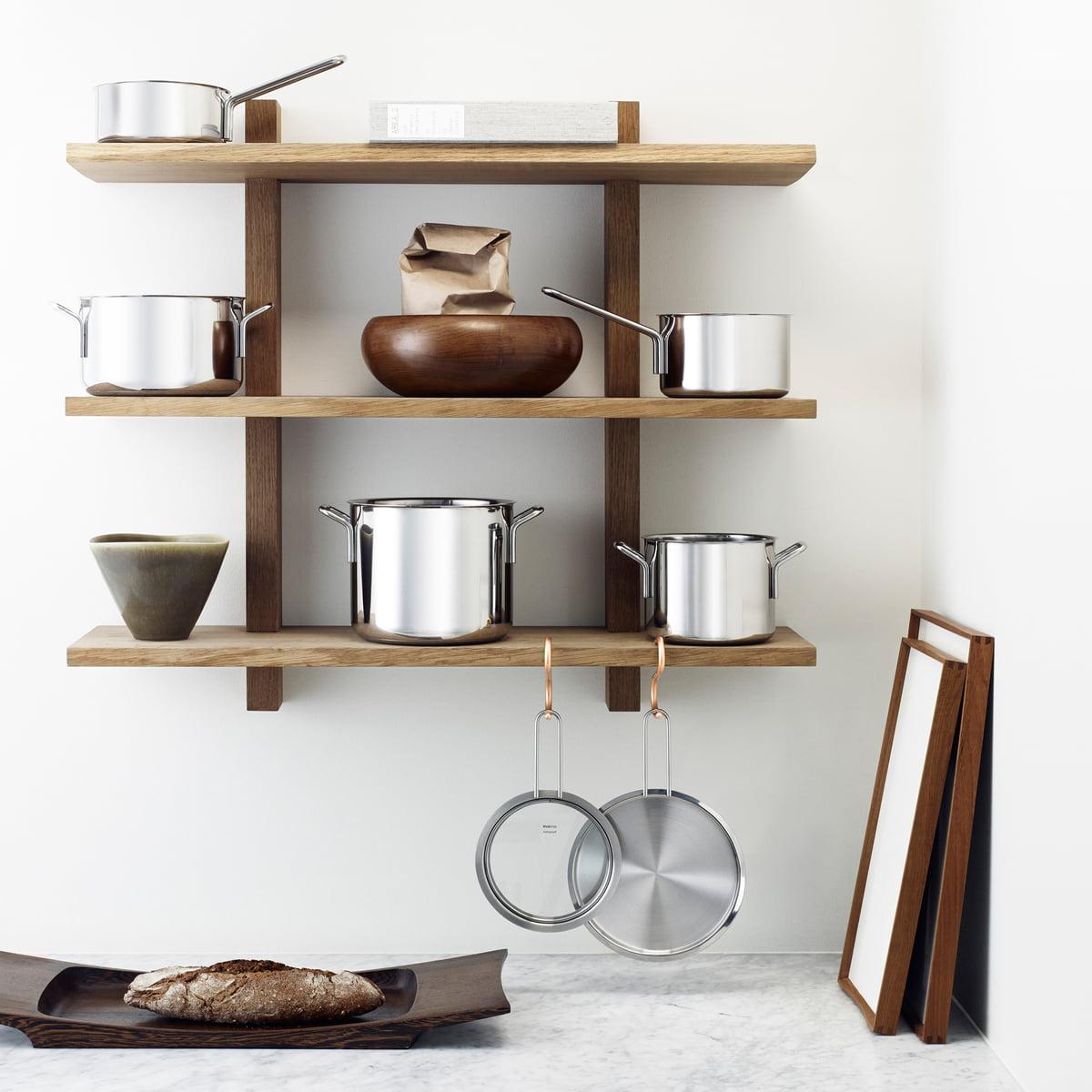 stainless steel topfset von eva trio connox. Black Bedroom Furniture Sets. Home Design Ideas