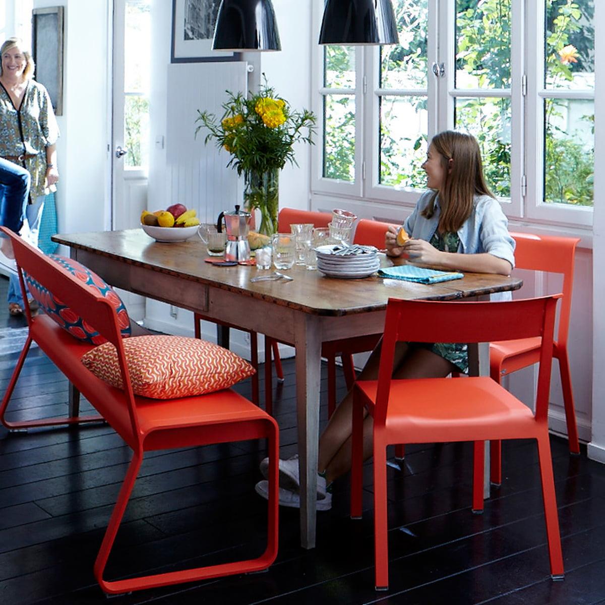 bellevie bank mit r ckenlehne von fermob. Black Bedroom Furniture Sets. Home Design Ideas