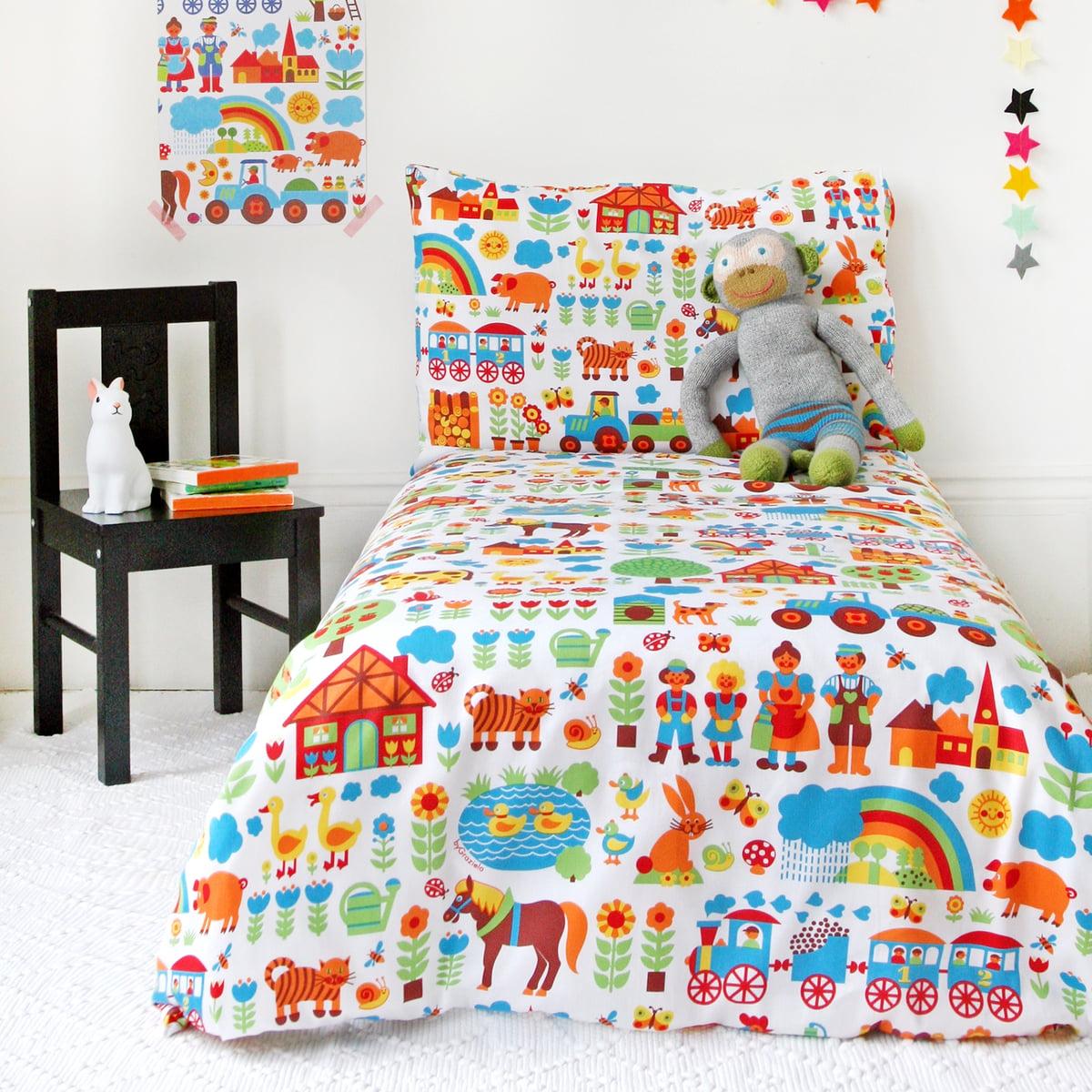 bettw sche bauernhof von bygraziela im shop. Black Bedroom Furniture Sets. Home Design Ideas