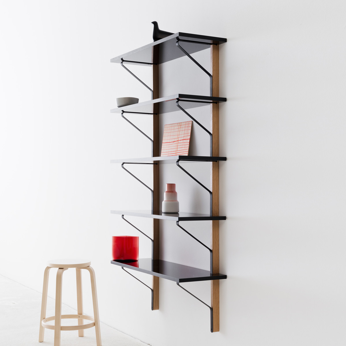 kaari wandregal 100 x 35 cm von artek. Black Bedroom Furniture Sets. Home Design Ideas