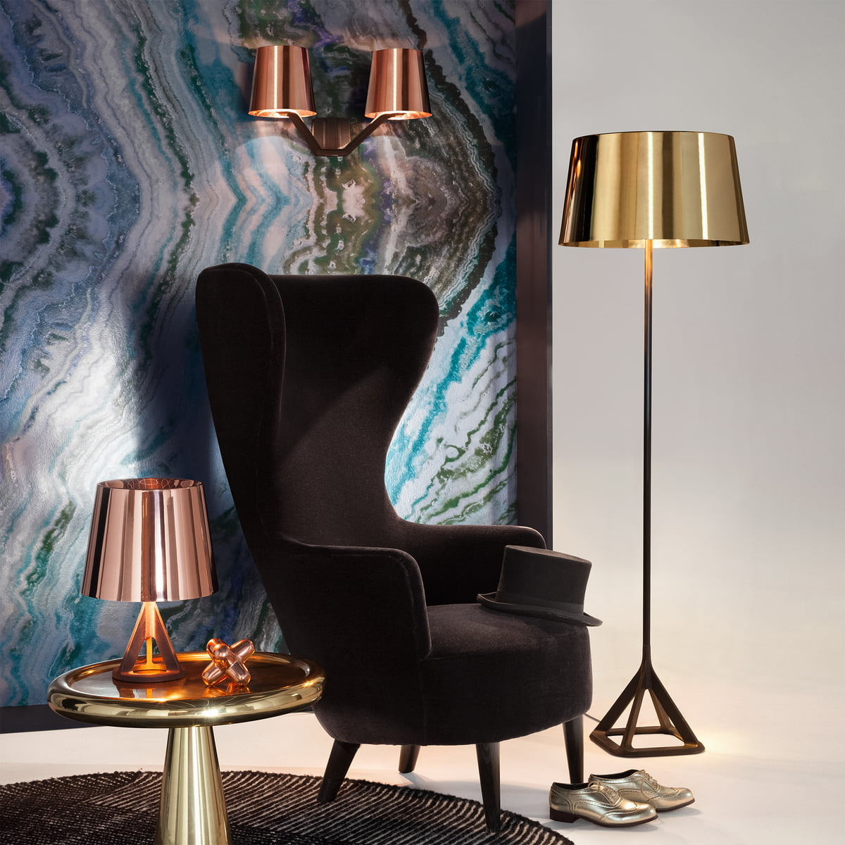 base wall light von tom dixon im shop. Black Bedroom Furniture Sets. Home Design Ideas