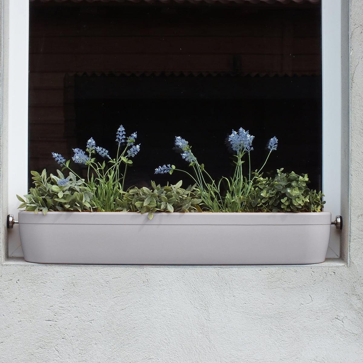 Rephorm - windowgreen Fensterbank Blumenkasten, weiß