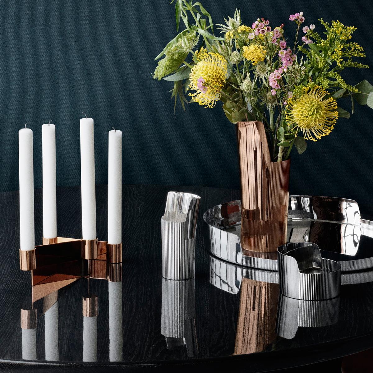 urkiola kerzenhalter von georg jensen im shop. Black Bedroom Furniture Sets. Home Design Ideas