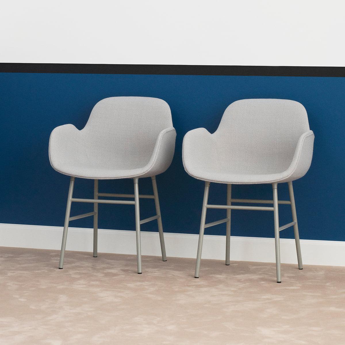 Geräumig Schalenstuhl Gepolstert Dekoration Von Form Armchair Steel Legs (gepolstert) Von Normann