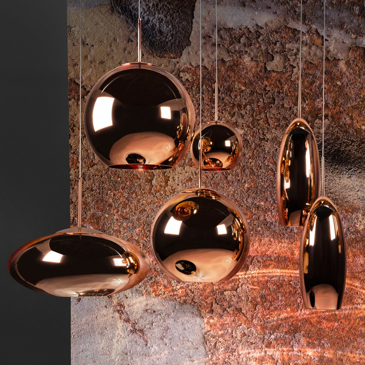 copper pendelleuchte von tom dixon connox. Black Bedroom Furniture Sets. Home Design Ideas