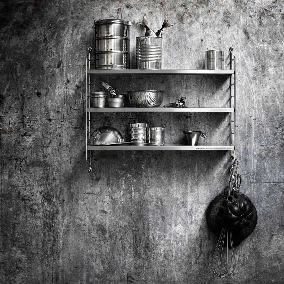 pocket wandregal von string limited edition. Black Bedroom Furniture Sets. Home Design Ideas