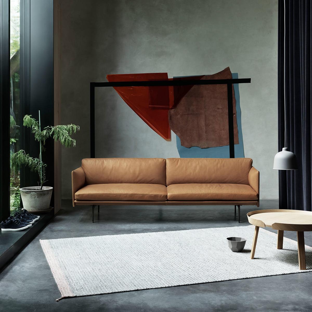 Outline Sofa 2 Sitzer Leder Von Muuto