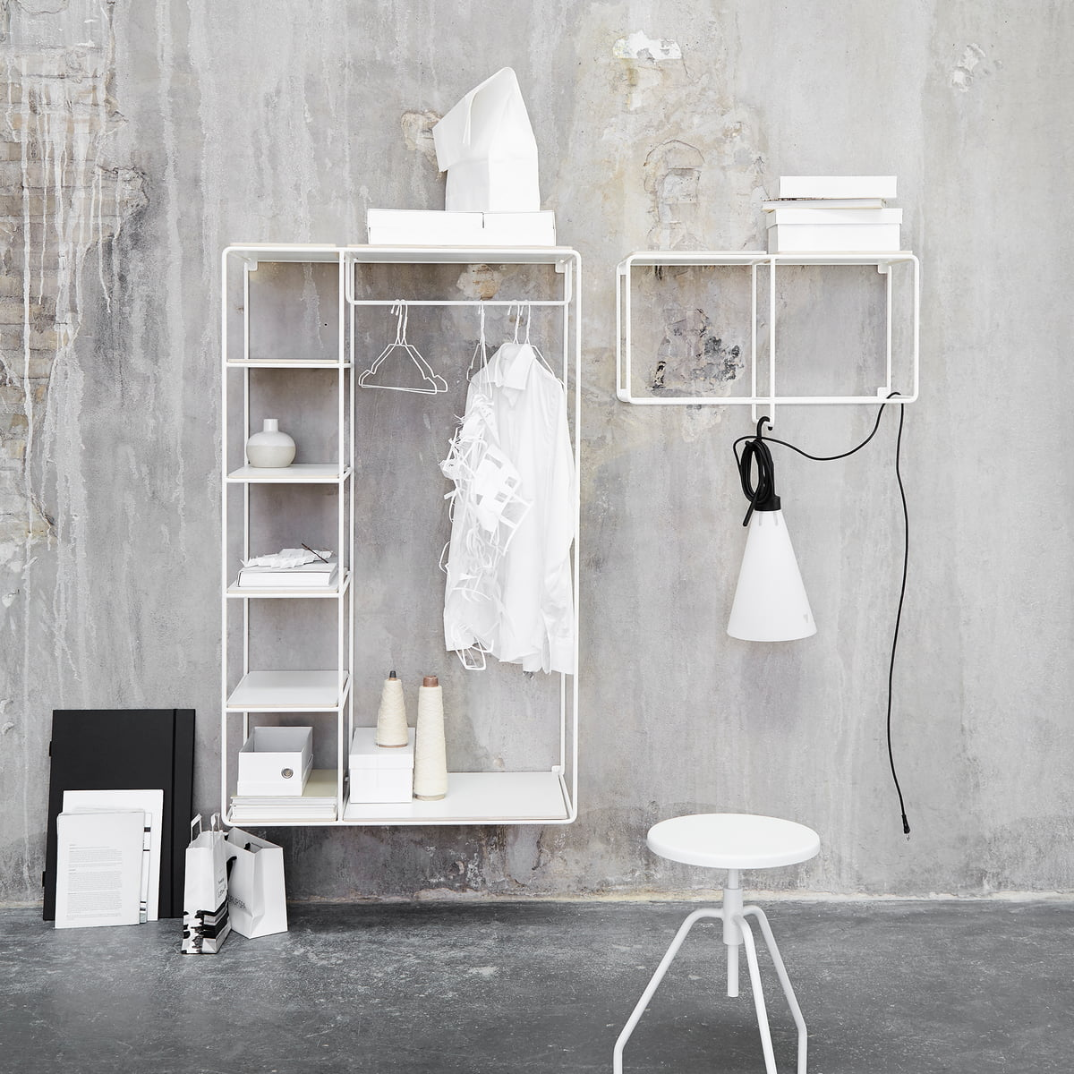 Elegant Garderobe Weiß Eiche Das Beste Von Korridor - Anywhere 1x2 Wandregal Mit