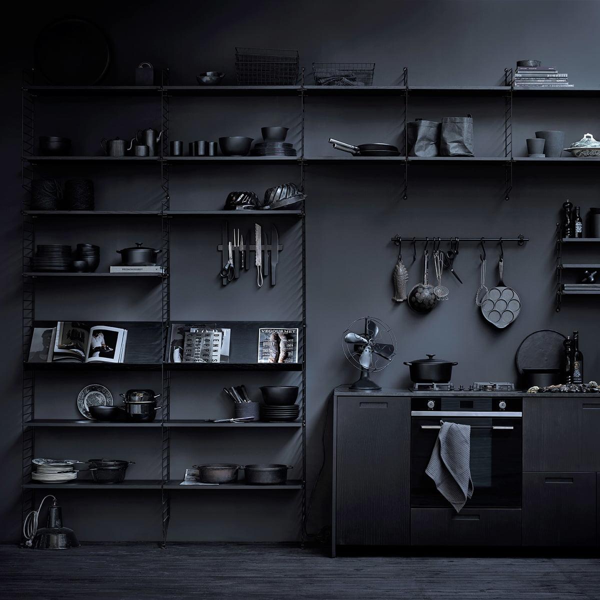 30 cm string regal boden bei connox kaufen. Black Bedroom Furniture Sets. Home Design Ideas