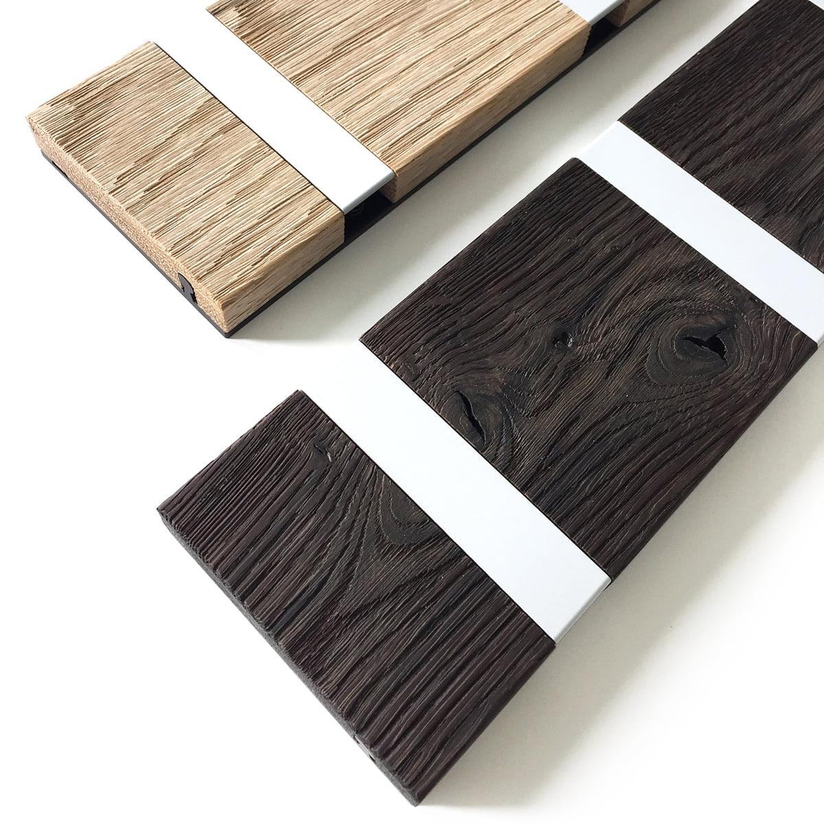 Knax rustique 6er garderobenleiste von loca for Einfache garderobenleiste