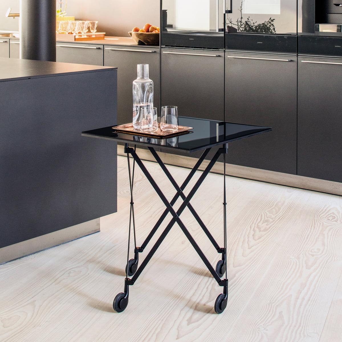 sax beistelltisch auf rollen von classicon. Black Bedroom Furniture Sets. Home Design Ideas