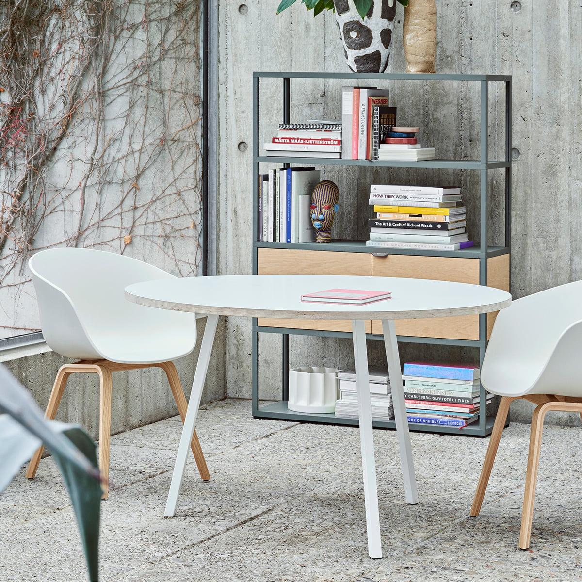 Attraktiv Der Hay   Loop Stand Tisch Rund In Weiß Mit AAC22