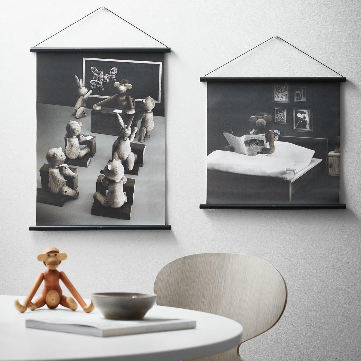 Affe Foto Klassenzimmer inkl. Rahmen von Kay Bojesen