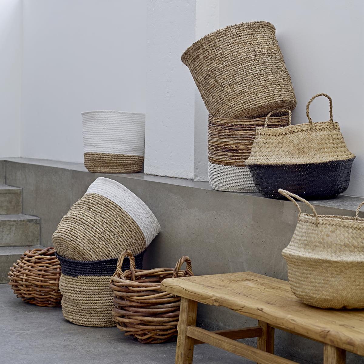 seegras korb von bloomingville connox shop. Black Bedroom Furniture Sets. Home Design Ideas