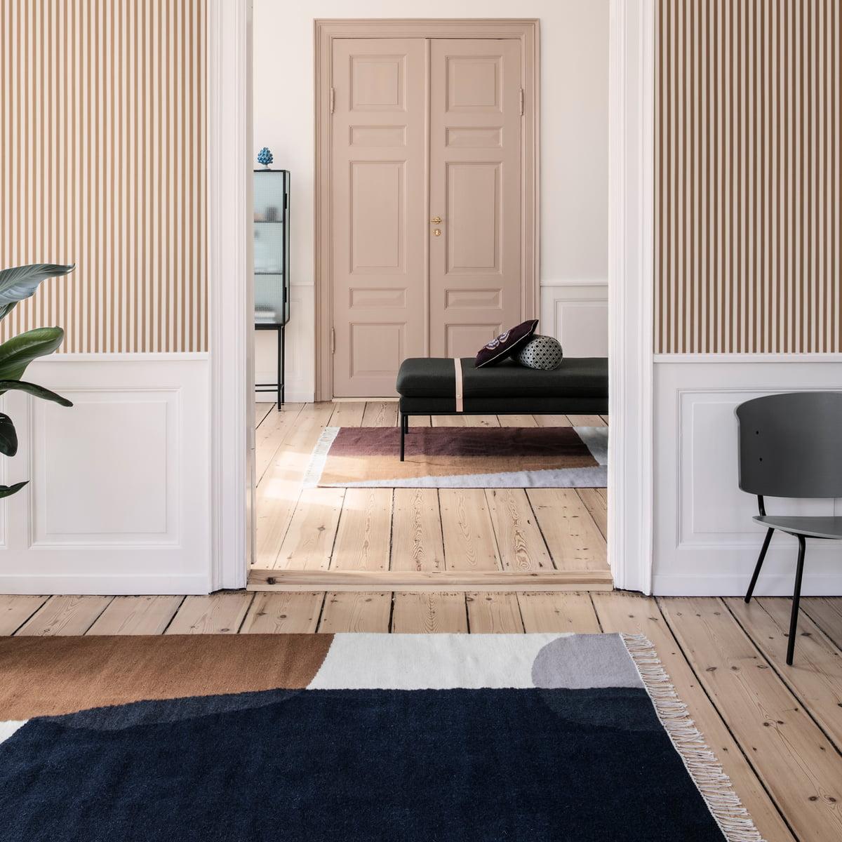 kelim rug merge von ferm living connox. Black Bedroom Furniture Sets. Home Design Ideas