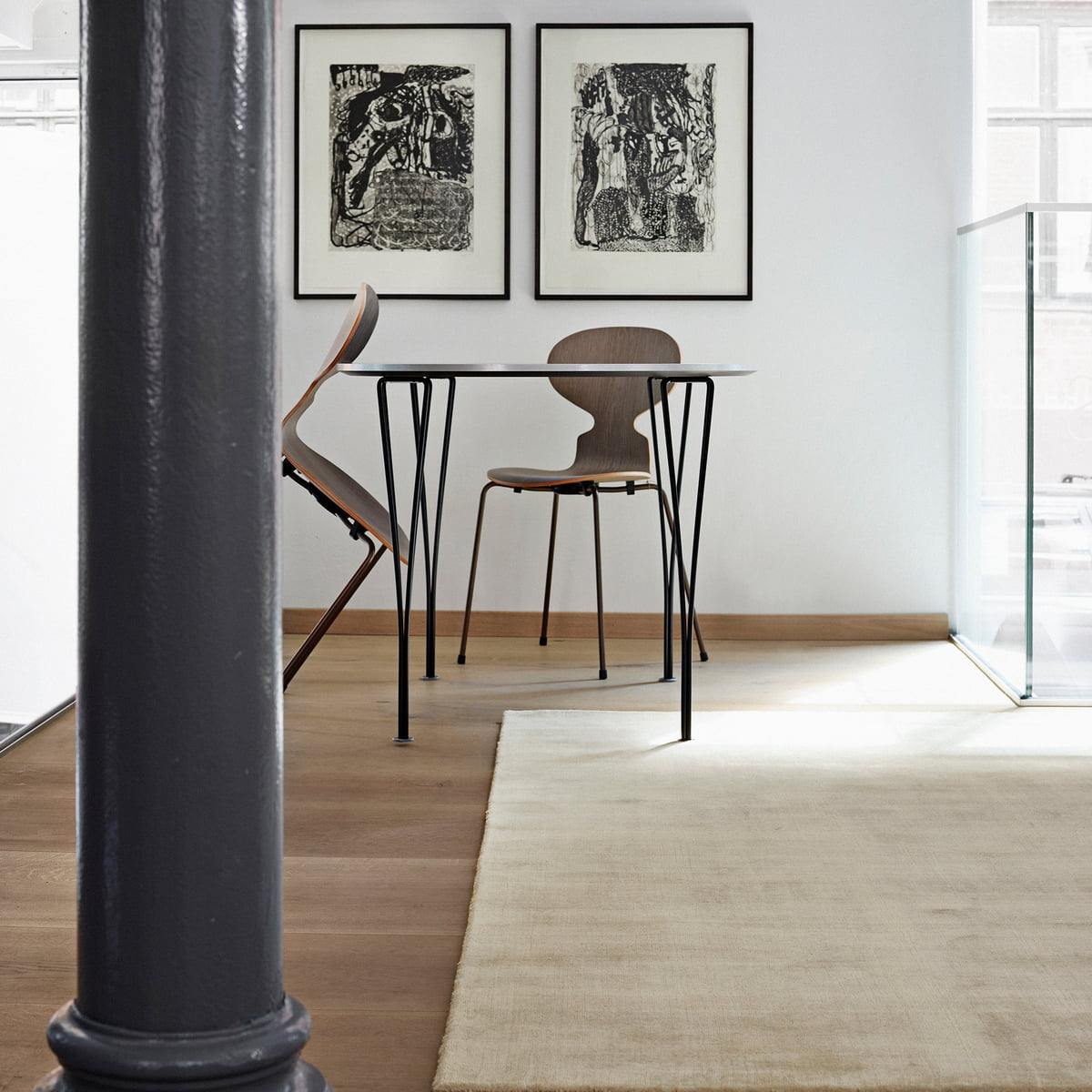 der massimo earth bamboo teppich in der essecke platziert - Einfache Dekoration Und Mobel Kuchenutensilien Mit Schickem Design