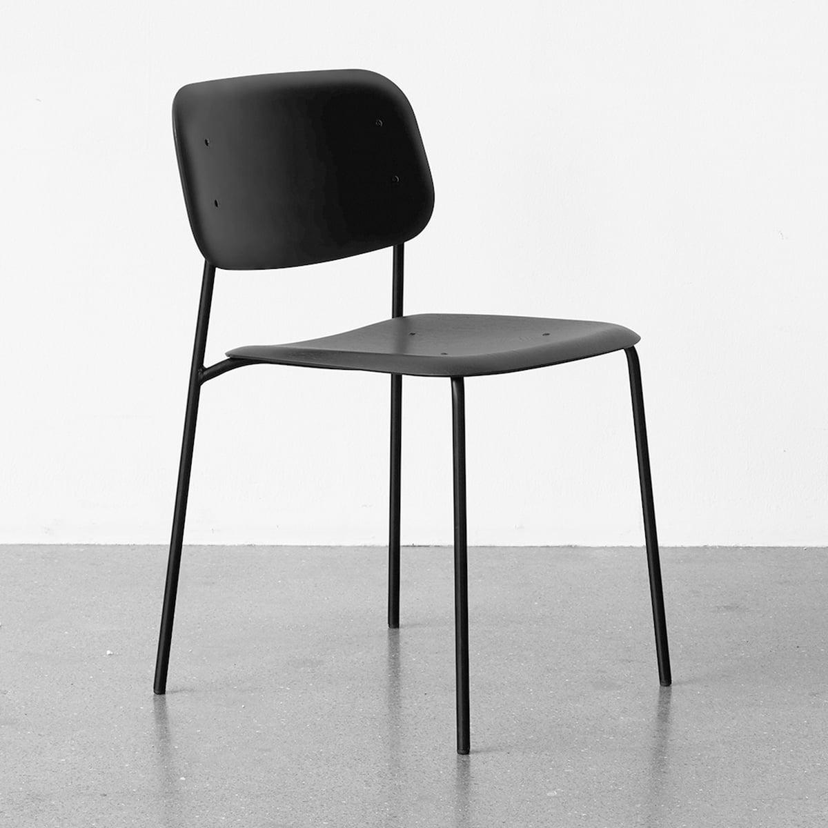 awesome einfache dekoration und mobel stuhl kollektion soft edge von hay #1: Der Hay - Soft Edge P10 Stuhl, schwarz / schwarz
