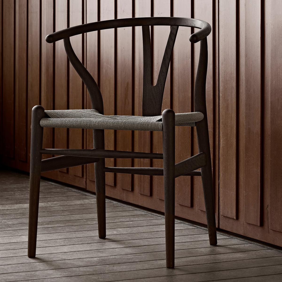 Elegant Der Carl Hansen   CH24 Wishbone Chair, Eiche Dunkel / Naturgeflecht